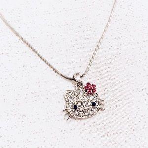 Hello Kitty Rhinestones Pendant Necklace